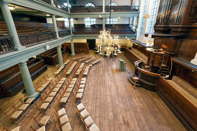 Singelkerk - Verenigde Doopsgezinde Gemeente Amsterdam. foto en © Yvonne Witte