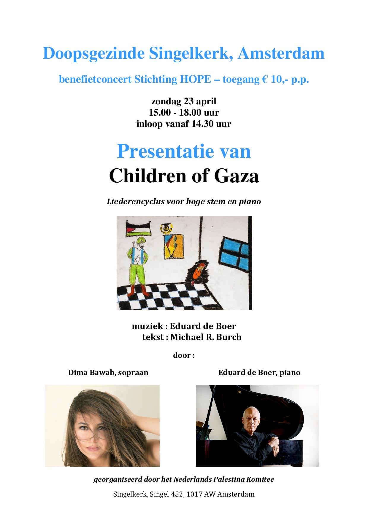 Benefietconcert Children of Gaza