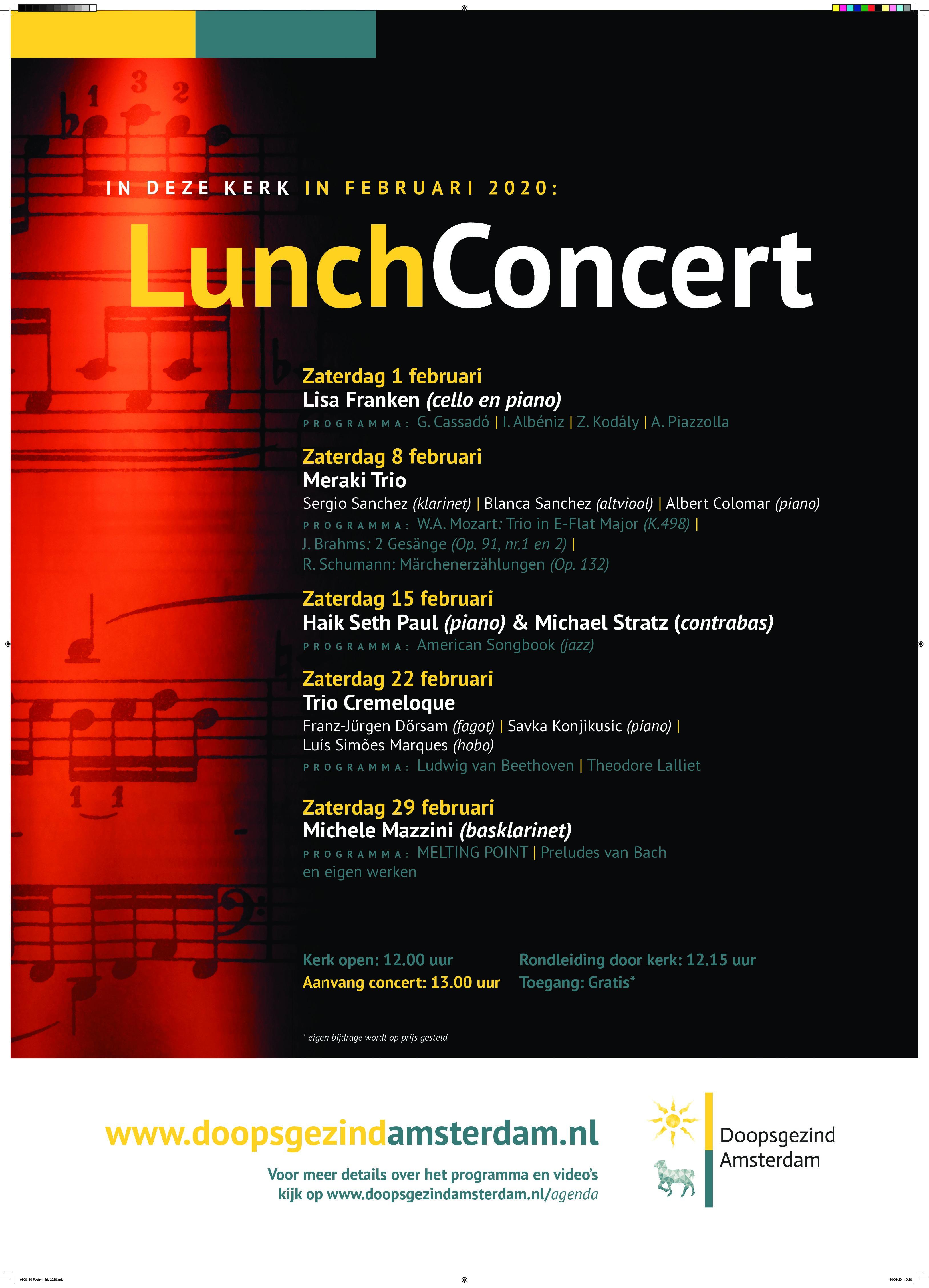Eerste lunchconcert in de Singelkerk met Lisa Franken